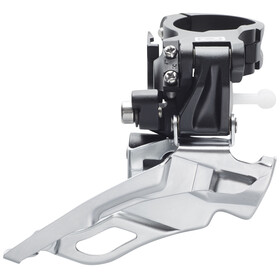 Shimano Deore FD-M611 Front Derailleur 3 x 10-spped, clamp, Dual-Pull black/silver